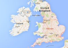 Interesting facts about England: Map