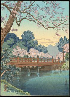 Koitsu, Tsuchiya (1870-1949) - Benkei Bridge