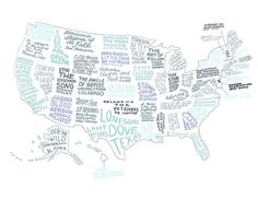 map - books that best represent each state