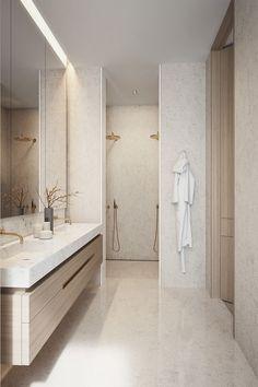 Home Interior Warm Badezimmer Inspiration.Home Interior Warm Badezimmer Inspiration Bad Inspiration, Bathroom Design Inspiration, Design Ideas, Design Projects, Design Trends, Diy Projects, Design Design, Bathroom Layout, Small Bathroom