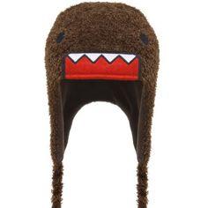 db560c39daf Amazon.com  Domo Kun Face Japan Peruvian Fuzzy Adult Pilot Laplander Hat   Clothing