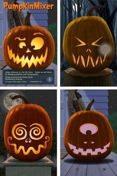 Halloween jack 'O' lantern carving ideas Diy Halloween, Adornos Halloween, Manualidades Halloween, Holidays Halloween, Halloween Pumpkins, Happy Halloween, Halloween Pumpkin Carvings, Halloween Pumpkin Designs, Halloween Costumes