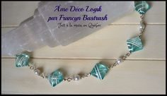 Bracelet plage perles blanches, acrylique turquoise et blanc, ton argent, plage, été, vacance, voyage, fête des mères, cadeau anniversaire