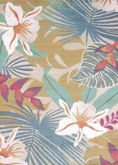 Tropical look New beach home COASTAL Collection 5x7 Room Size Area Rug Flowers ! #UnitedWeavers #COASTAL