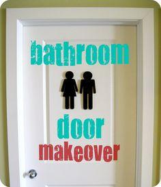Peppermint Plum: {Bathroom Door Makeover}
