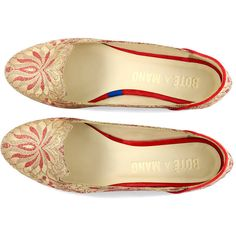 4ba67b9d7ebf  boteamano Red Babouche Slipper Red Ballet Flats