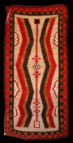 Navajo Ganado Rug. This and more important Navajo textiles for sale on CuratorsEye.com