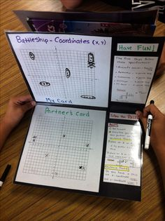 Battleship-coordinate planes and ordered pairs. Students enjoy playing it.