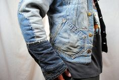 Patchwork Denim Lee Wolf Fox Jacket