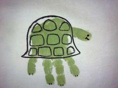 Turtle handprint craft