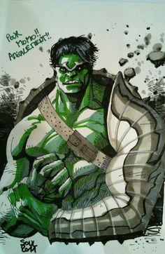 #Hulk #Fan #Art. (WORLD WAR HULK By: Soul-the-Awkward. ÅWESOMENESS!!!™ ÅÅÅ+