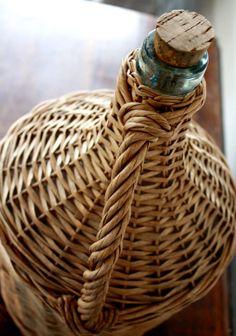 Antique Vintage European Demi John wine Basket by BavarianPoppy, $65.00