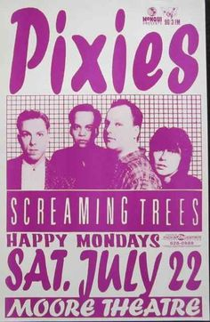 Pixies with Screaming Trees. Moore Theater - Seattle, Washington. Artist: Mike King