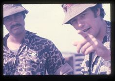Tim Page (right) with Sean Flynn, shot by Mike Herr, author of Dispatches, at the mouth of the Perfume River