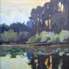 """Antonelli's Pond,"" oil, by artist Barbara Lawrence"