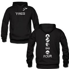 divergent tris and Four tattoo quote 2 Hoodie Front Arm by Supersticker77, $28.00