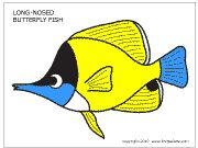 Download Long-Nosed Butterfly Fish Template