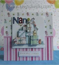 "Square ""Tulip"" Birthday Card - (DoCrafts ""Tulip"" Decoupage Card)"