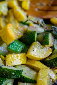 10 Minute Sautéed Zucchini and Squash Side Dish - The Food Charlatan Baked Squash And Zucchini Recipes, Yellow Zucchini Recipes, Summer Squash Recipes, How To Cook Zucchini, Zuchinni Recipes, How To Make Squash, Zucchini Appetizers, Recipes, Healthy Snack Foods