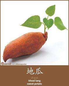 地瓜 - Dìguā - khoai lang - sweet potato