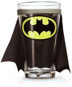 ThinkGeek :: DC Comics Caped Pint Glass - WANT!