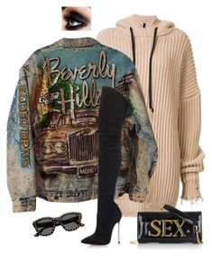 """Sex in the Hills"" by styleswavington ❤ liked on Polyvore featuring Unravel, Casadei, Vivienne Westwood, Yves Saint Laurent and streetfashion"