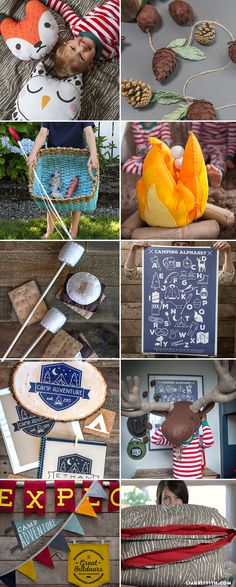 DIY Camping Bedroom Round Up This kids bedroom design is the ultimate theme for the little adventurer in your life. Designed by handcrafted lifestyle expert Lia Griffith. Camping Diy, Camping Theme, Camping Guide, Camping Hacks, Camping Bedroom, Boys Camping Room, Woodland Room, Big Boy Bedrooms, Kids Bedroom Designs