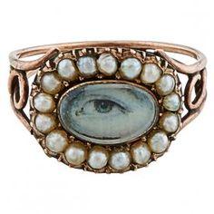 Lover's Eye 19th century ring face : Lot 7