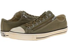 Converse Chuck Taylor® All Star® Vintage Washed Twill Double Zip Ox Cactus - Zappos.com Free Shipping BOTH Ways
