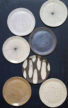 trays and domes made by brooklyn based ceramicist re jin lee of bailey doesn't bark - love the color scheme