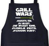 http://ift.tt/1WpvXOl Lustige Grillen Barbecue Schürze von Shirtstreet24 mit Dunkle Seite Grill Wars Aufdruck Größe: onesizeSchwarz