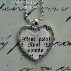 Mene pois! 20€ Tea Design, Dog Tags, Dog Tag Necklace, Accessories, Jewelry, Jewlery, Jewerly, Schmuck, Jewels