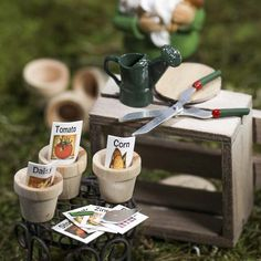 Give your fairies and gnomes the tools they need to tend to the magical fairy garden you've created for them.