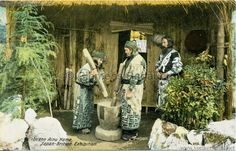 1910 Japan-British Exhibition 695. Japan-British Exhibition - In the Ainu Home