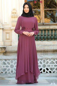 Neva Style - Dusty Rose Hijab Evening Dress 52559GK - Neva-style.com NEVA STYLE - DUSTY ROSE HIJAB EVENING DRESS 52559GK<br> Hijab Dress Party, Big Size Dress, Roses, Fashion, Moda, Pink, La Mode, Fasion, Rose