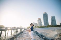 Ocean side engagement, beach engagement, Miami engagement // Rubber Boots Photography, South Florida Engagement Photographer