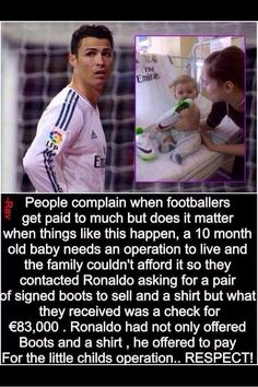 Love his incredible soul. need more people like him in this world! Thank you Ronaldo 👏 True Interesting Facts, Interesting Facts About World, Cheque, Reality Quotes, Life Quotes, Mommy Quotes, Cristiano Ronaldo Quotes, Ronaldo Soccer, Messi Soccer