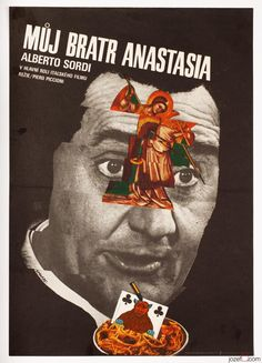 Karel Vaca's movie poster design for the 1975 Italian crime comedy My Brother Anastasia. #MoviePoster #KarelVaca #70sMoviePoster #ItalianCinema #Collage