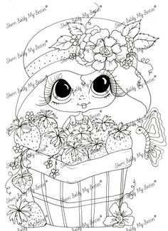 Sherri Baldy Digi Stamps  You can adopt this Bestie :-)   ******Have fun crafting******  This is for the black and white line art digi stamp only.