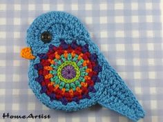crochet applique | Appliqué – Crochet Applique Embellishments Bird – a unique ...