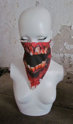 Killer horror monster blood mouth zombie vs bandana by redcovers, $18.00