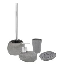 Bring a little nature inside with the Pebble bathroom accessory set by Wenko! The high quality pebble bathroom set is the perfect addition to compliment any bathroom theme. The pebble style is available in a soap dispenser, tumbler, soap dish, and toilet brush. Contact sales@wenkoinc.com for more information.