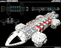 Space 1999 Eagle Transporter with Medical Pod Model made with Google Sketchup 7.0 by Closedimarco