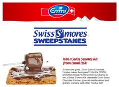 Sweepstakes for Emmi Swiss S'mores