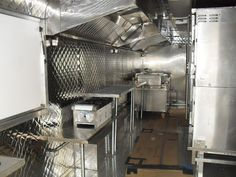 Food Truck Kitchen Design | Stainless Steel Kitchen Interior for a Mobile Food Truck is Custom ...