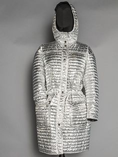 Courreges silver metallic coat, mid-20th by Augusta Auctions
