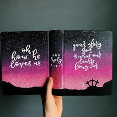 Custom order hand painted journaling bible cover