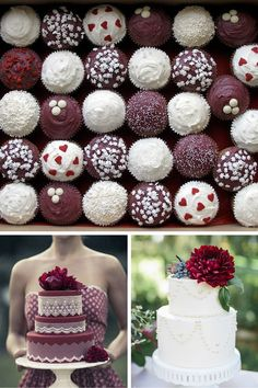 Wedding cakes and desserts, Pantone color of the year, Marsala