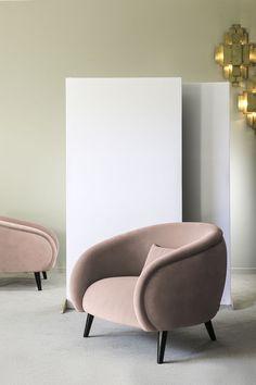 Fauteuil club Pieder Marron Rembourré Antik Optique Design Fauteuil Cocktail fauteuil