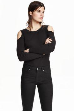 Camisola de ombros recortados | H&M